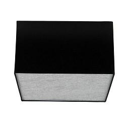 Plafondlamp lampenkap vierkant zwart 30