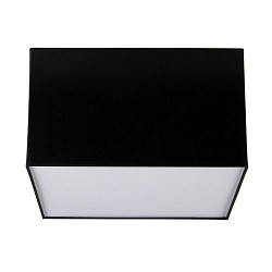 Plafondlamp lampenkap vierkant zwart wit