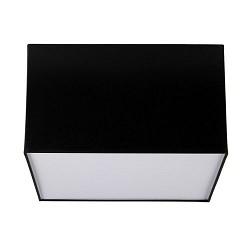 Plafondlamp lampenkap vierkant zwart-wit
