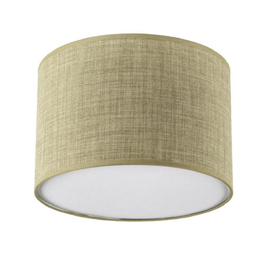 Plafondlamp lampenkap zand rond 40 cm
