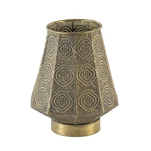 Kleine tafellamp Oosterse lantaarn goud