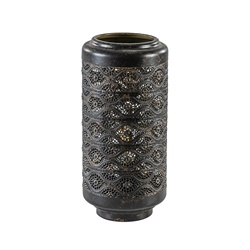 Cilinder tafellamp lantaarn donker bruin