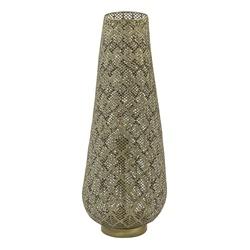 Metalen vloerlamp Oriental mat goud