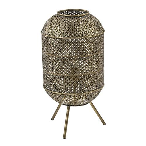 Oosterse vloer/tafellamp op pootjes goud