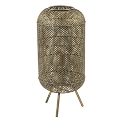 Metalen vloerlamp Oosterse lantaarn goud