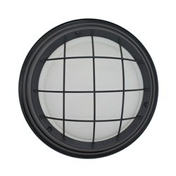 Industriele plafondlamp zwart Typhoon