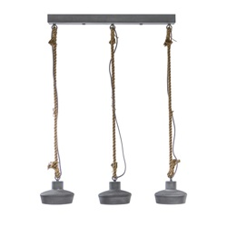 Betonlook 3L hanglamp voor bar-eettafel