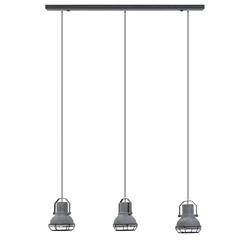 Bar-eettafel hanglamp 3-licht betonlook