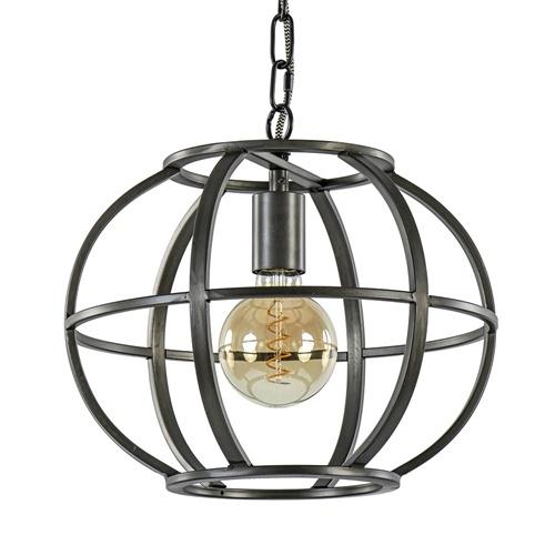 Metalen hanglamp industrieel bol