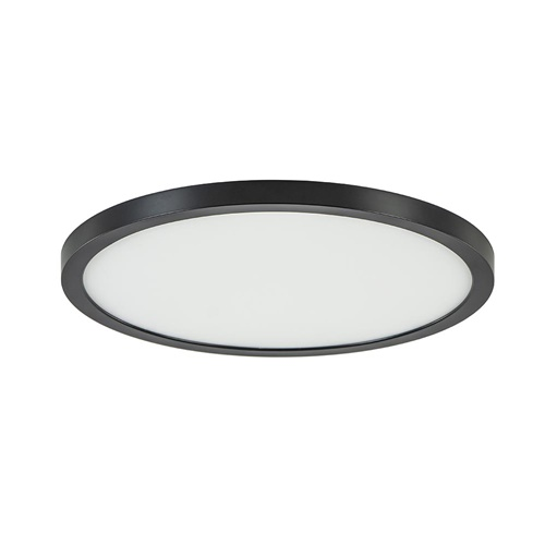 Kleine LED plafonnière zwart met wit