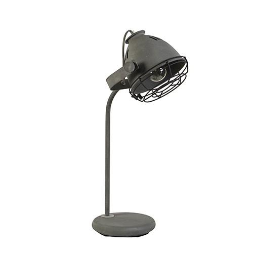 Industri le tafel bureaulamp betonlook straluma for Industriele bureaulamp