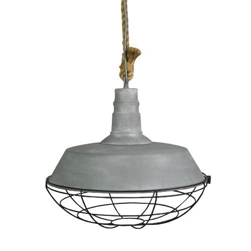 Industriële hanglamp beton touw keuken