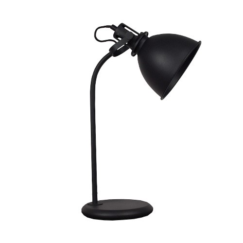 Industri le tafel bureaulamp mat zwart straluma for Nachtkast lamp