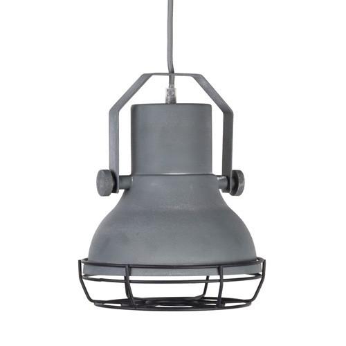 Kleine industriële hanglamp betonlook