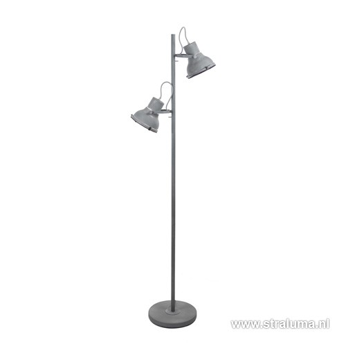 Good industrile vloerlamp betonlook spot with aparte for Staande lamp betonlook