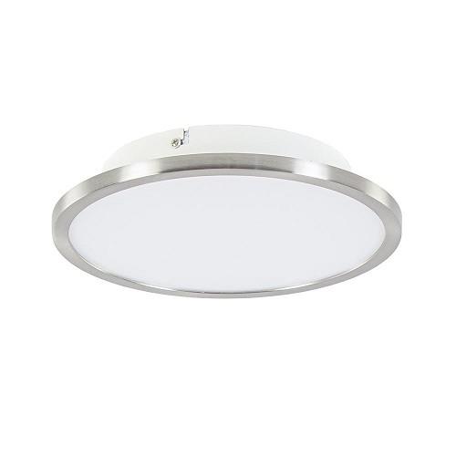 Plafondlamp Ceres 25 cm nikkel met wit inclusief LED en easydim