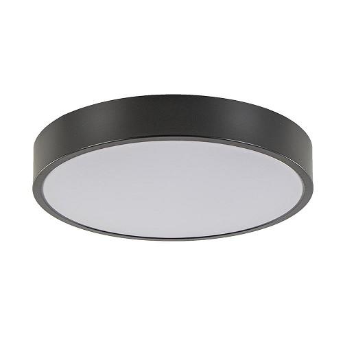 Moderne LED plafondlamp rond zwart wit