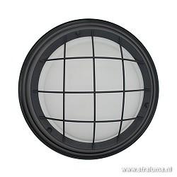 *Industriele plafondlamp zwart + rooster