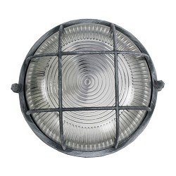 Industriele bull's eye wand-plafondlamp