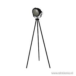 *Industriële zwarte vloerlamp-leeslamp