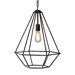 *Stoere hanglamp industrie betondraad