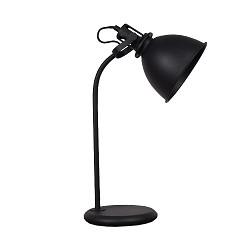 *Industriële tafel-bureaulamp mat zwart