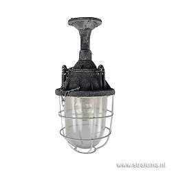 Industriele plafondlamp lantaarn beton