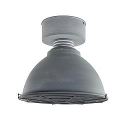 *Industriele plafondlamp betonlook grill