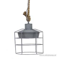 *Industrie hanglamp met korf