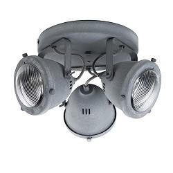 **Ronde 3-lichts plafondspot betonlook