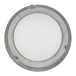 Industriele plafondlamp betonlook rond