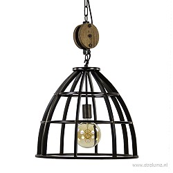 *Industriele hanglamp black antique