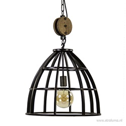 Industriele hanglamp black antique