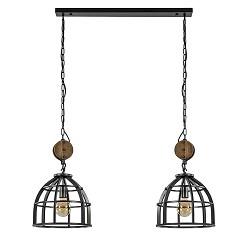 Industriële hanglamp 'Matrix' korf 2-lichts