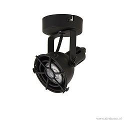 Zwarte plafondspot industrie 1-lichts