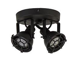 Opbouwspot Jesper 2-lichts zwart