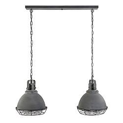 Eettafelhanglamp beton met grill