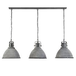 Grote eettafelhanglamp betonlook 3-licht