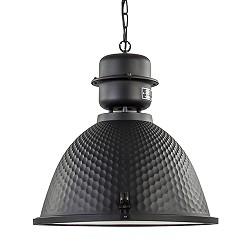 Zwarte hanglamp Kiki industrie - helder glas