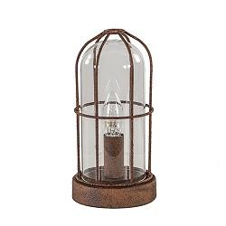 Kooi tafellamp Storm roest met glas