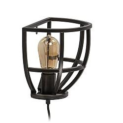 Zwarte wandlamp Matrix industrieel