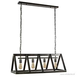 Industriële eettafelhanglamp triangle metaal