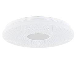 Moderne plafonnière wit aluminium inclusief LED