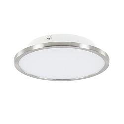 Plafondlamp Ceres 25 cm nikkel met wit inclusief LED