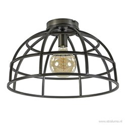 Industriële plafondlamp zwart staal