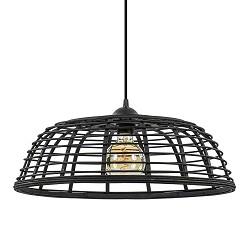 Botanisch landelijke hanglamp zwart