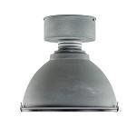 * Industriele plafondlamp betonlook glas