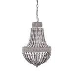 *Kralen hanglamp-kroon Luna grijs 41 cm