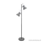 Industriële vloerlamp betonlook spot 2-L
