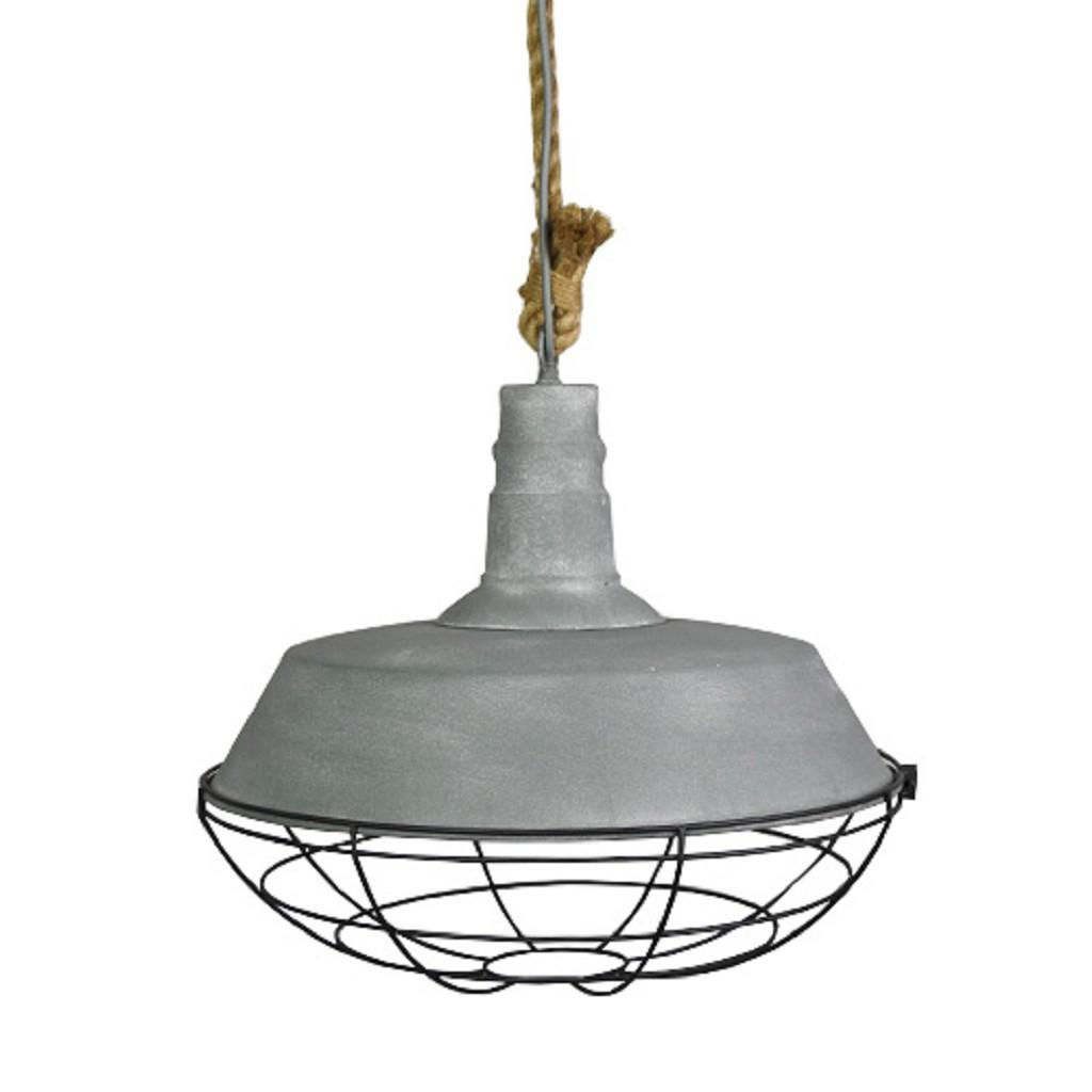 Hanglamp Met Touw.Industriele Hanglamp Beton Touw Keuken Www Straluma Nl